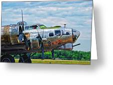 B17 Bomber Side View Greeting Card