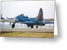 B17 Flying Fortress Cleared For Takeoff At Livermore Greeting Card