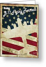 B17 Flying Fortress Vintage Greeting Card