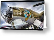 B17 Nine-o-nine Nose Art V2 Greeting Card
