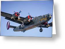 B24 Liberator Landing At Livermore Greeting Card