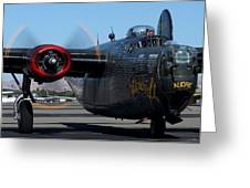 B24 Liberator Ready To Taxi Memorial Day Weekend 2015 Greeting Card