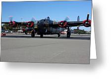 B24 Liberator Start-up At Livermore Klvk Memorial Day Greeting Card