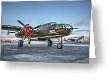 B25 Mitchell At Livermore Greeting Card