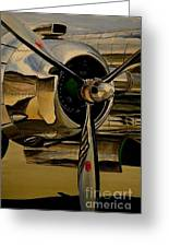 B25 Mitchell Bomber Starboard Engine 1943  Warbirds Greeting Card