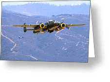 B25 Mitchell Flyby At Salinas Greeting Card
