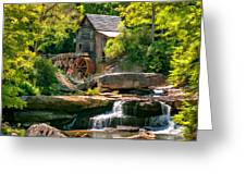 Babcock State Park Wv 2 - Paint Greeting Card