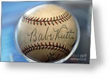 Babe Ruth Baseball. Greeting Card