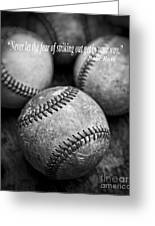 Babe Ruth Quote Greeting Card