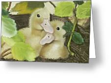 Babies In The Berry Bush Greeting Card
