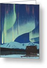 Babine Mountains Aurora Greeting Card
