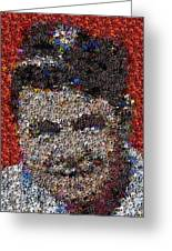 Babr Ruth Puzzle Piece Mosaic Greeting Card