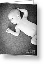 Baby Boy Black And White Greeting Card