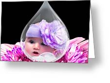 Baby Dewdrop Greeting Card