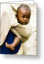 Baby In A Sling Greeting Card