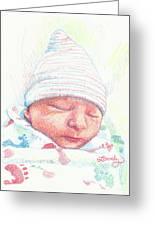 Baby James Greeting Card
