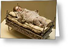 Baby Jesus In Lace Greeting Card
