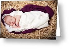 Baby Jesus Nativity Greeting Card by Cindy Singleton
