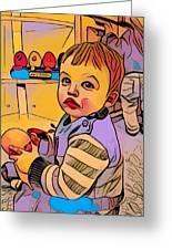 Baby Play Greeting Card