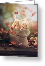 Baby Twins Greeting Card