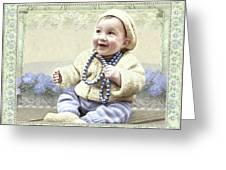 Baby Wears Beads Greeting Card