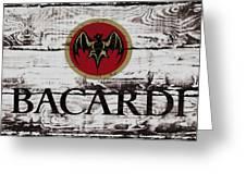 Bacardi Wood Art Greeting Card