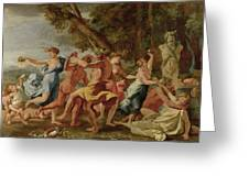 Bacchanal Before A Herm Greeting Card