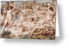 Bacchanalia Greeting Card