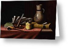Bachelor S Table By William Michael Harnett Greeting Card