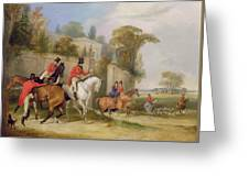 Bachelor's Hall - The Meet Greeting Card by Francis Calcraft Turner