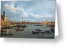 Bacino Di San Marco From Canale Della Giudecca Greeting Card