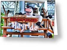 Back At The Barnyard Hayride Greeting Card