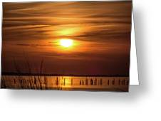 Back Bay Sunset Greeting Card