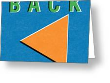 Back Button Greeting Card