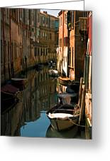 Back Canal In Venice Greeting Card