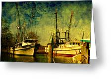 Back Home In The Harbor Greeting Card