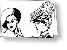 Back In Twenties Mural Greeting Card