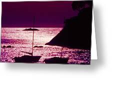Back Lit Boats 2 Greeting Card