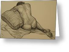 Back Nude 3 Greeting Card