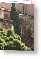 Back Of Church Of The Frari In Venice Greeting Card