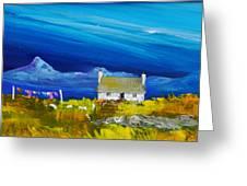 Back  Of Keppoch Cottage, Arisaig Greeting Card