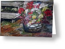 Back Porch Garden Greeting Card