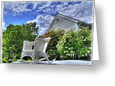Back Porch In Summer Greeting Card