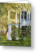 Back Porch Of Grove Plantation, Ace Basin Greeting Card