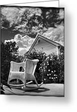 Back Porch Rocking Chair Greeting Card