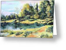 Back River Solitude Greeting Card
