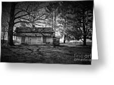 Back Road Farm House Greeting Card