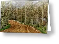 Back Road Home Greeting Card