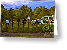 Back Road Mailboxes Greeting Card