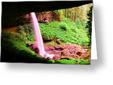 Back Side Of Silver Falls Greeting Card